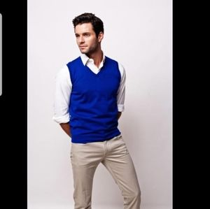 BROOKS BROTHERS⏳Pure CASHMERE $348 Vest Royal Blue